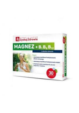 Magnez+ B1 B6 B12, 30 tabletek zyskaj zdrowie