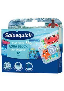 Plastry Salvequick, Aqua Block Kids, 12 sztuk