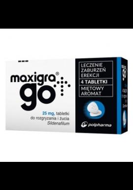 Maxigra Go 25 mg tabletki do rozgryzania i żucia 4 szt
