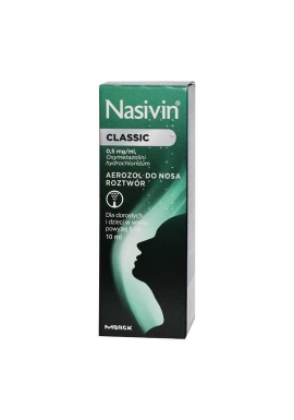 Nasivin Classic (Nasivin Soft 0.05%) aerozol do nosa 10ml