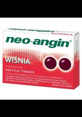 Neo-Angin wiśnia 24 tabletki do ssania