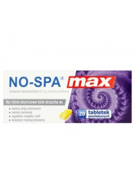 No-Spa MAX 20 tabletek