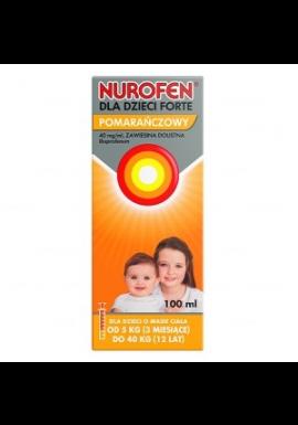 Nurofen Forte zawiesina doustna dla od 3 miesiąca smak pomarańczowy 100m