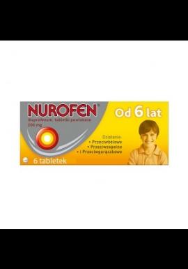 Nurofen tabletki dla dzieci od 6 lat 200mg 6 tabletek