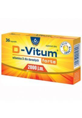 D-Vitum Forte 2000 j.m, dla doroslych, 36 kapsulek