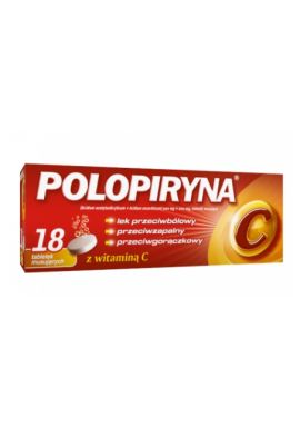 Polopiryna C 10 tabl musujacych z vit C