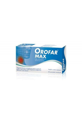 Orofar MAX 20 pastylek