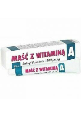 Masc z witamina A 1500jm 25g
