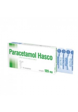 Paracetamol Hasco 125mg czopki 10 sztuk