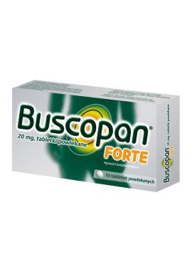 Buscopan Forte 20mg, 10 tabletek