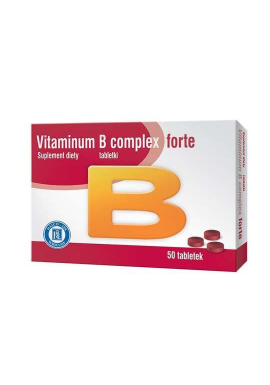 Vitaminum B complex forte,  50 tabletek