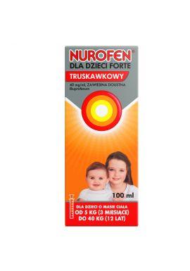 Nurofen dla dzieci Forte, truskawkowy 100ml