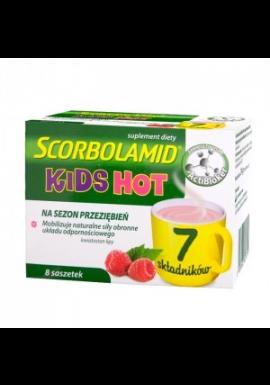 Scorbolamid Kids Hot dla dzieci powyżej 3 lat 8 saszetek