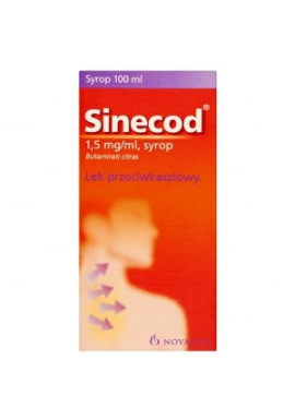 Sinecod syrop 15mg/1ml 100ml