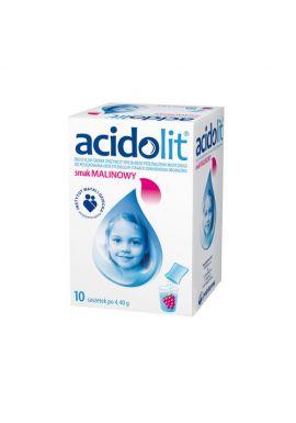 Acidolit, smak malinowy, 10 saszetek