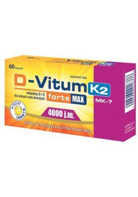 D-Vitum Forte Max 4000j.m., 60 kapsułek k2