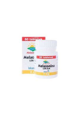 Melatonina, 3mg, 60 tabletek