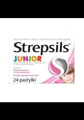 Strepsils Junior pastylki bez cukru powyżej 6 lat 24 sztuki