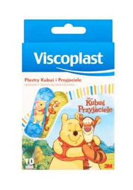 Plastry Viscoplast, zestaw plastrow dla dzieci, Kubus/przyjaciele 10szt