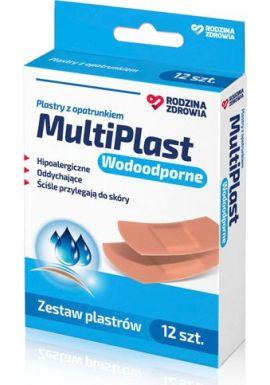 Plastry, Rodzina Zdrowia MultiPlast, wodoodporny, 12 sztuk