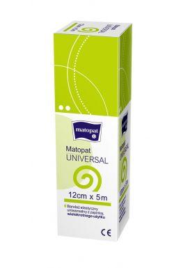 Bandaz elastyczny z zapinka 12cm x 5m 1szt MATOPAT UNIVERSAL