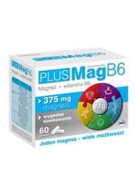 PlusMag B6, magnez i witamina B6, 60 tabletek