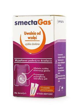 Smecta Gas, proszek do sporządzania zawiesiny doustnej, 12 saszetek