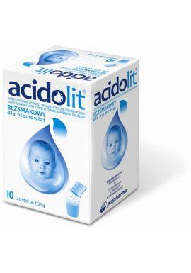 Acidolit, bezsmakowy dla niemowlat, 10 saszetek