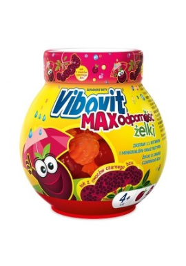 Vibovit Max Odporność Żelki dla w wieku od 4 do 12 lat smak czarnego bzu 50 sztuk