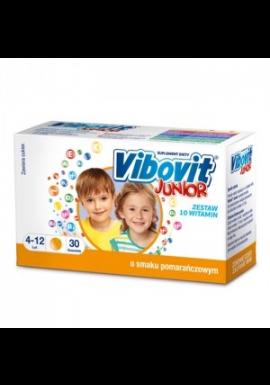 Vibovit Junior dla w wieku  od 4 do 12 lat smak  pomarańczowy 30 saszetek
