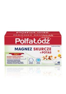 PolfaLodz Magnez Skurcze + Potas, 40 tabletek