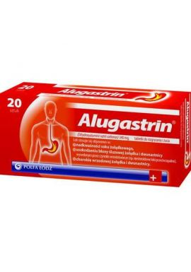 Alugastrin, 20 tabletek do rozgryzania i zucia