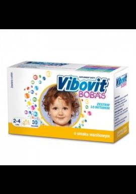 Vibovit Bobas dla dzieci  w wieku od 2 do 4 lat smak  waniliowy 30 saszetek