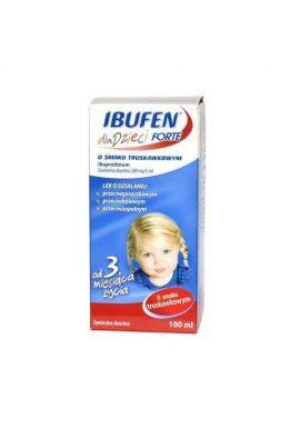Ibufen Forte, od 3 miesiaca zycia, smak truskawkowy, 100ml