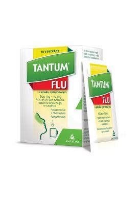 Tantum Flu, smak cytrynowy, 10 saszetek