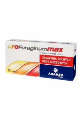 UroFuraginum Max, 15 tabletek