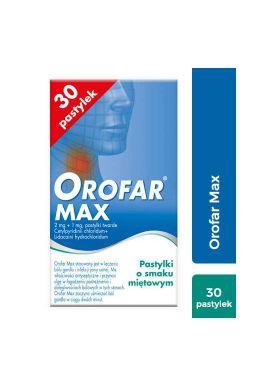 Orofar Max, 30 pastylek