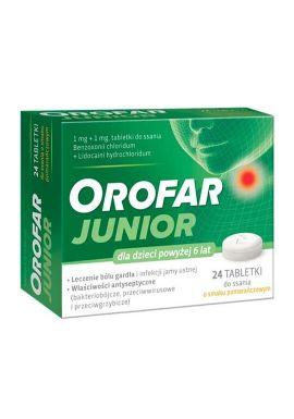 Orofar Junior, 24 tabletki do ssania