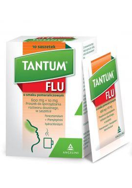Tantum Flu, smak pomaranczowy, 10 saszetek