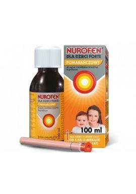 Nurofen Forte, dla od 3 miesiaca, smak pomaranczowy, 100ml