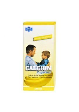 Calcium, syrop, smak bananowym150ml Polfarmex
