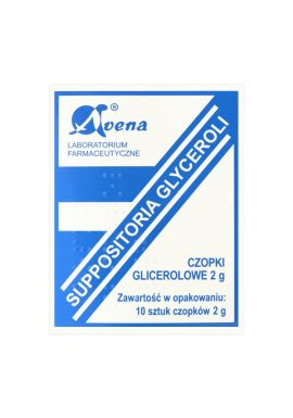 Czopki glicerolowe, Avena 2g, 10 sztuk