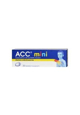 ACC mini 100mg od 3 lat 20 tabletek musujacych