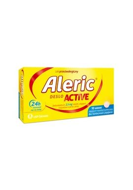 Aleric Deslo Active 2,5mg, 10 tabletek