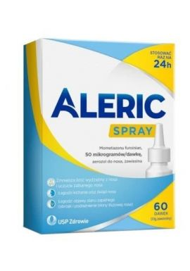 Aleric Spray, aerozol do nosa, 50mcg/daw., 60 dawek