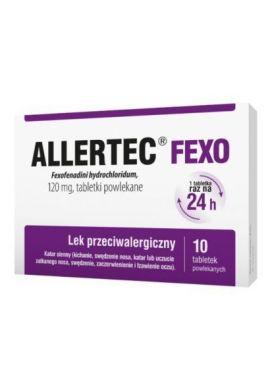 Allertec Fexo 120mg, 10 tabletek