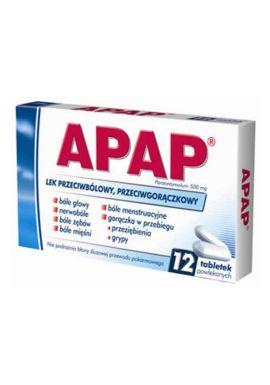 Apap 12 tabletek