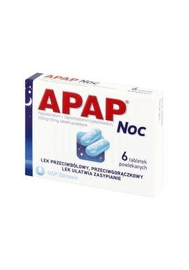 Apap noc 6 tabletek