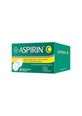 Aspirin C, 400 mg + 240 mg, tabletki musujace, 20 szt.