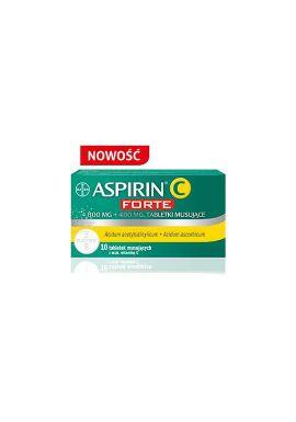 ASPIRIN C FORTE 10 tabletek musujacych